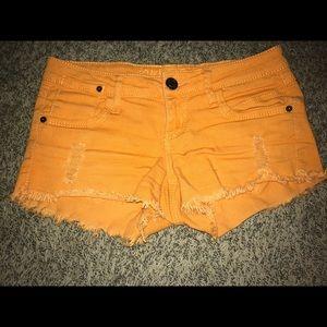 Pants - Orange Rue21 shorts